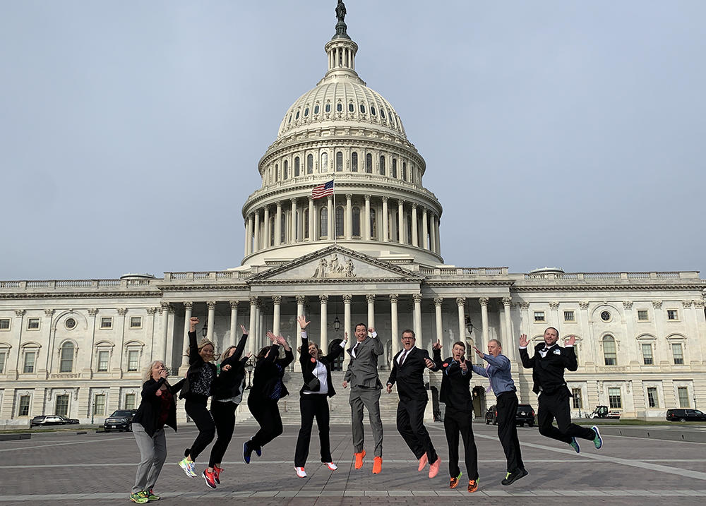 Society of Health and Physical Educators SPEAK Out! Day group at Capitol Hill