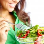 woman enjoying salad