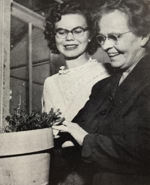 Student Ardis Peterson was an assistant in the greenhouse 1953.