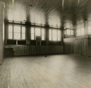 The Old Main basketball court