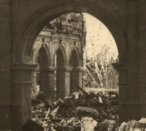 Rubble after the fire.