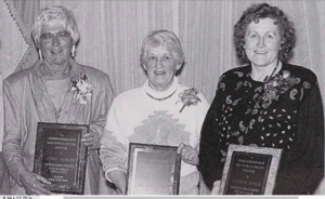 Joann Johnson, Mary Mullin, and Eleanor Rynda, faculty in the physical education department, supported women's athletics at UMD in the late 1960s and early 1970s.