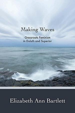 Book cover with an image of waves and a shoreline.