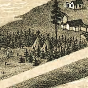 1883 Park Point map detail showing tipis in Duluth.