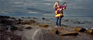 Bulldog hockey player Reagan Haley at Brighton Beach