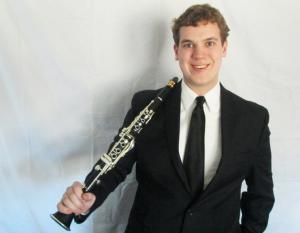 Andrew Mahoney with his clarinet