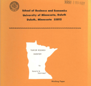 BBER'S Tourism Research Inventory, 1988