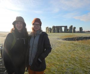 Paige and Cassandra at Stonehenge