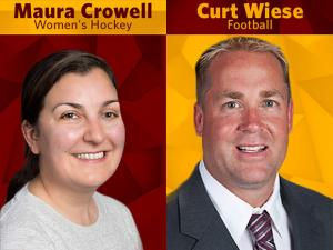 UMD Head Coaches Maura Crowell and Curt Wiese