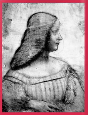 Drawing of Mona Lisa painting