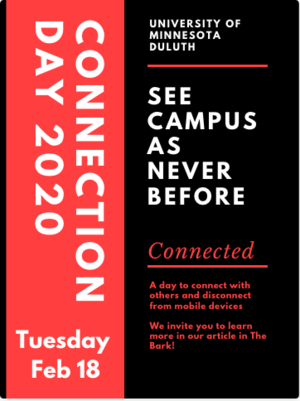This poster advertises Connection Day