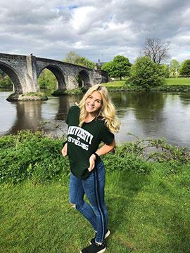 UMD LSBE student Courtney Cornelius in Scotland