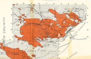 Map of the 1918 Fire