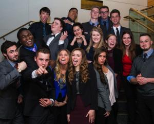 Leaders and Participants of the 2016 UMD Entrepreneurship Conference posed for a goofy picture.