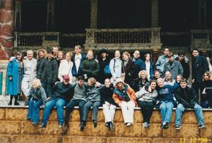Students at London's Globe Theatre