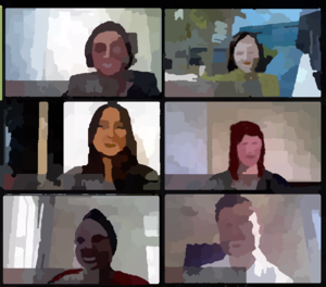 art images of zoom meeting