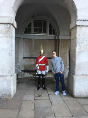 Matt and a British guard