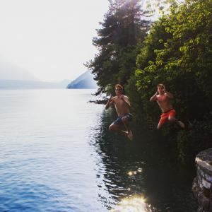 Matt and friend in Switzerland