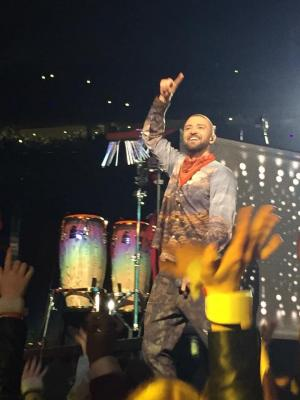 Sonya got this close to Justin Timberlake at his performance.