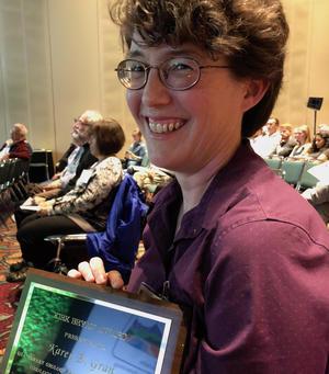 Karen Gran received the Kirk Bryan Award at the Geological Society of America 2018 annual meeting.