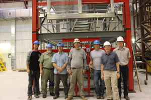 Kyle and his colleagues at the NOνA detector facility in Ash River, Minn.