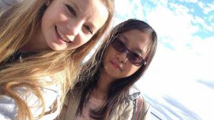Emily Andrew and Shuang Li became friends when they took the international communication class. Shuang is one of the first three Chinese students in the Donghua University/UMD cooperative degree program.