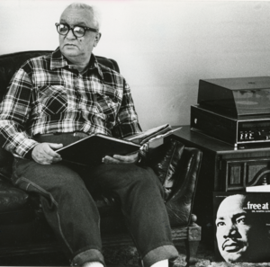 After he retired, Maupins opened his home to civil rights leaders for political discussions.