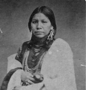 Ojibwe woman 1885