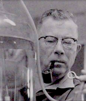 Professors Odlaug in the lab