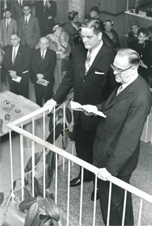 Prime Minister Erlander and Provost Darland
