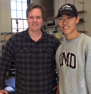 Sam Kelly and Taeho Lim are studying internal wave theory.