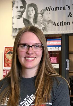 Sara Minder is a student advocate in the Women's Resource and Action Center at UMD.
