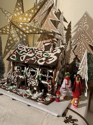 Gingerbread house created by UMD students