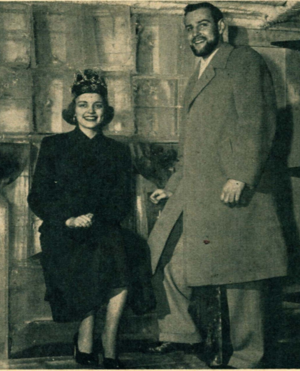 1951, snow king and queen