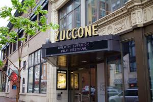 The Teatro Zuccone, hosting UMD short films as part of the Duluth Superior Film Festival. Photo by Cole White.