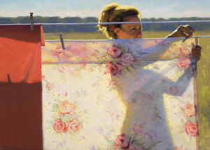 Rose Print by Jeffery T. Larson, 2000, oil on canvas, 30 x 24''