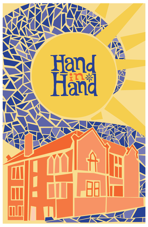 Graphic design students' poster for Hand-In-Hand fundraiser