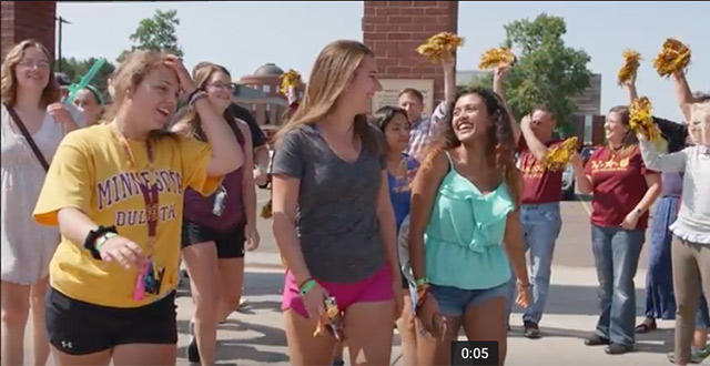 UMD students arriving at Chancellor's Welcome event