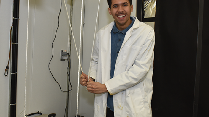 L.J. Rogers spends a lot of time in the Biology Department labs conducting research.