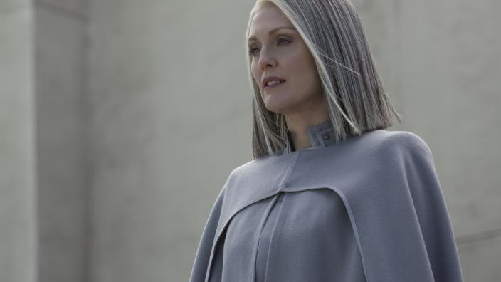 Julianne Moore as President Coin in The Hunger Games
