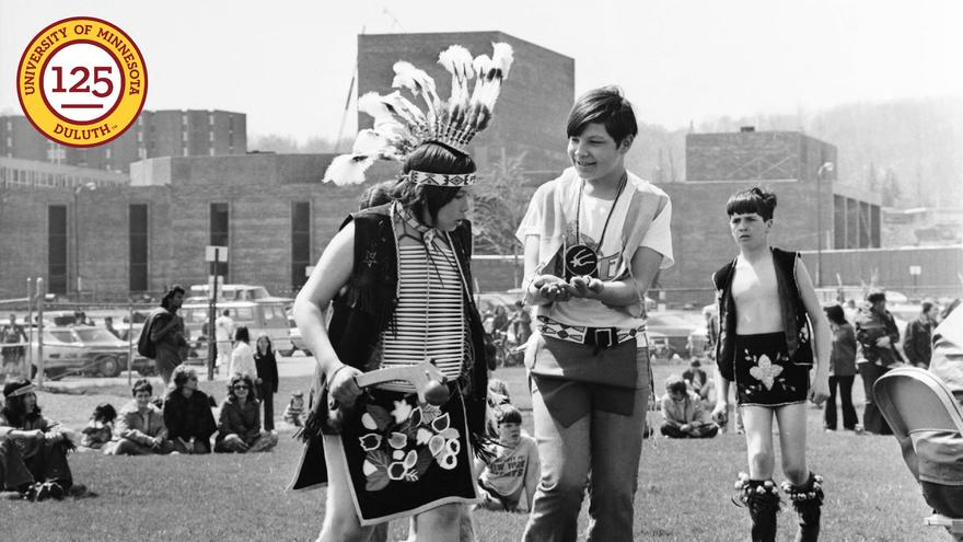 1973 Young dancers at Anishinaabe week