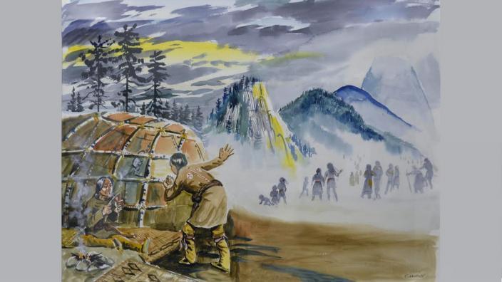 Painting by Carl Gawboy