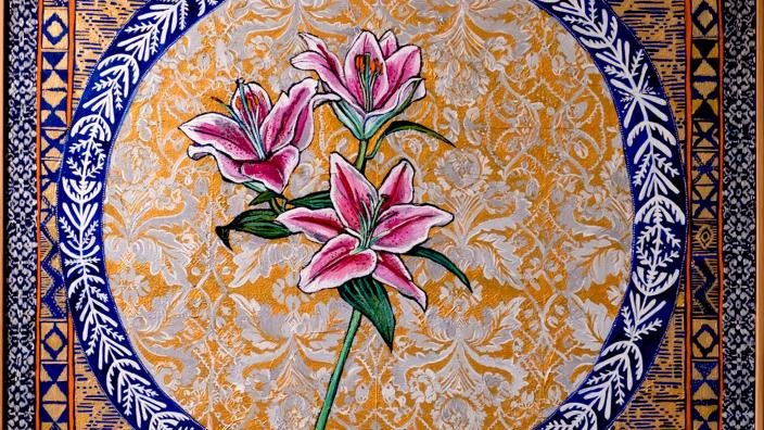 painting of a lily