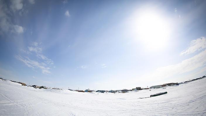 UMD Dean Olaf Kuhlke photo of Arviat for Hudson Bay