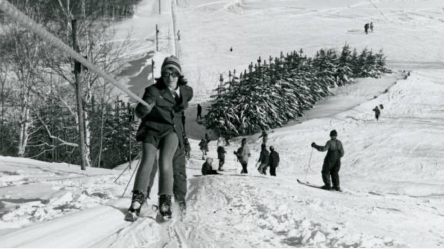 Sue Lyons on the Bagley ski hill