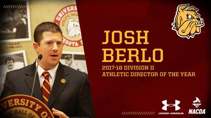 UMD Athletic Director Josh Berlo