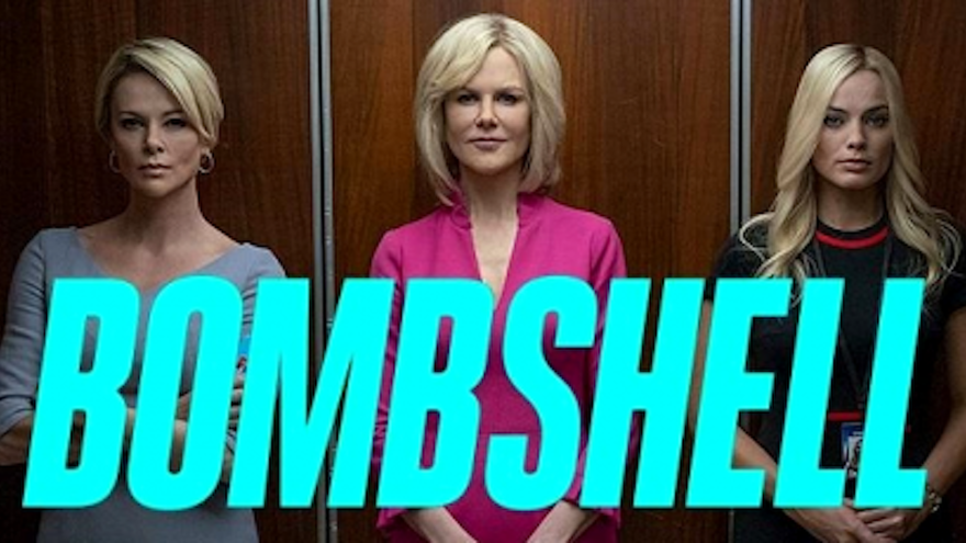 """poster of three women actors in the film """"Bombshell"""""""