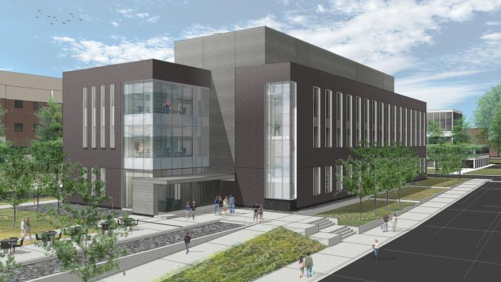 Artist's drawing of the future CAMS building