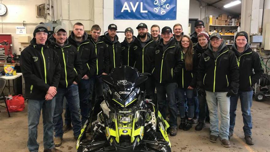 UMD Clean Snowmobile Team