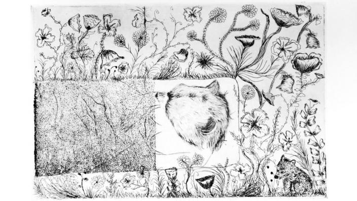 Artwork by UMD student Samantha Corbett